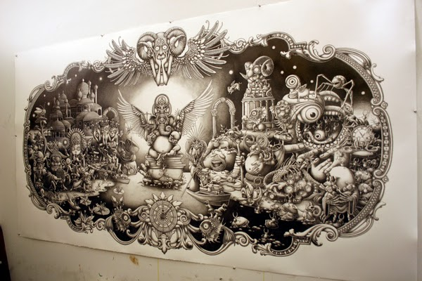 Amazing Illustrations by Joe Fenton - Solitude - 2010/2011 - A work in progress