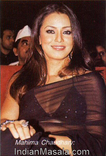 Mahima Chaudhary at an Event in Black Saree