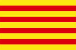 La Senyera - den katalanska flaggan