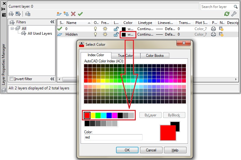 Click on the color then select the color from the color palette