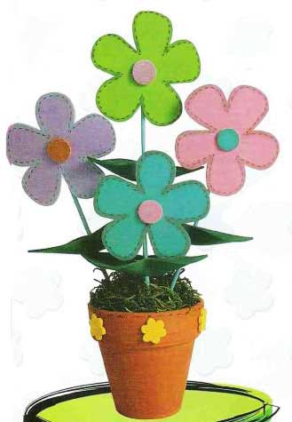 Os moldes de flores são sempre bem-vindos, para fazer lindos