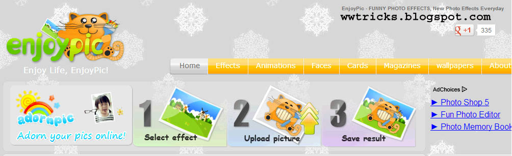 List of top Websites for adding Funny effects to photos: