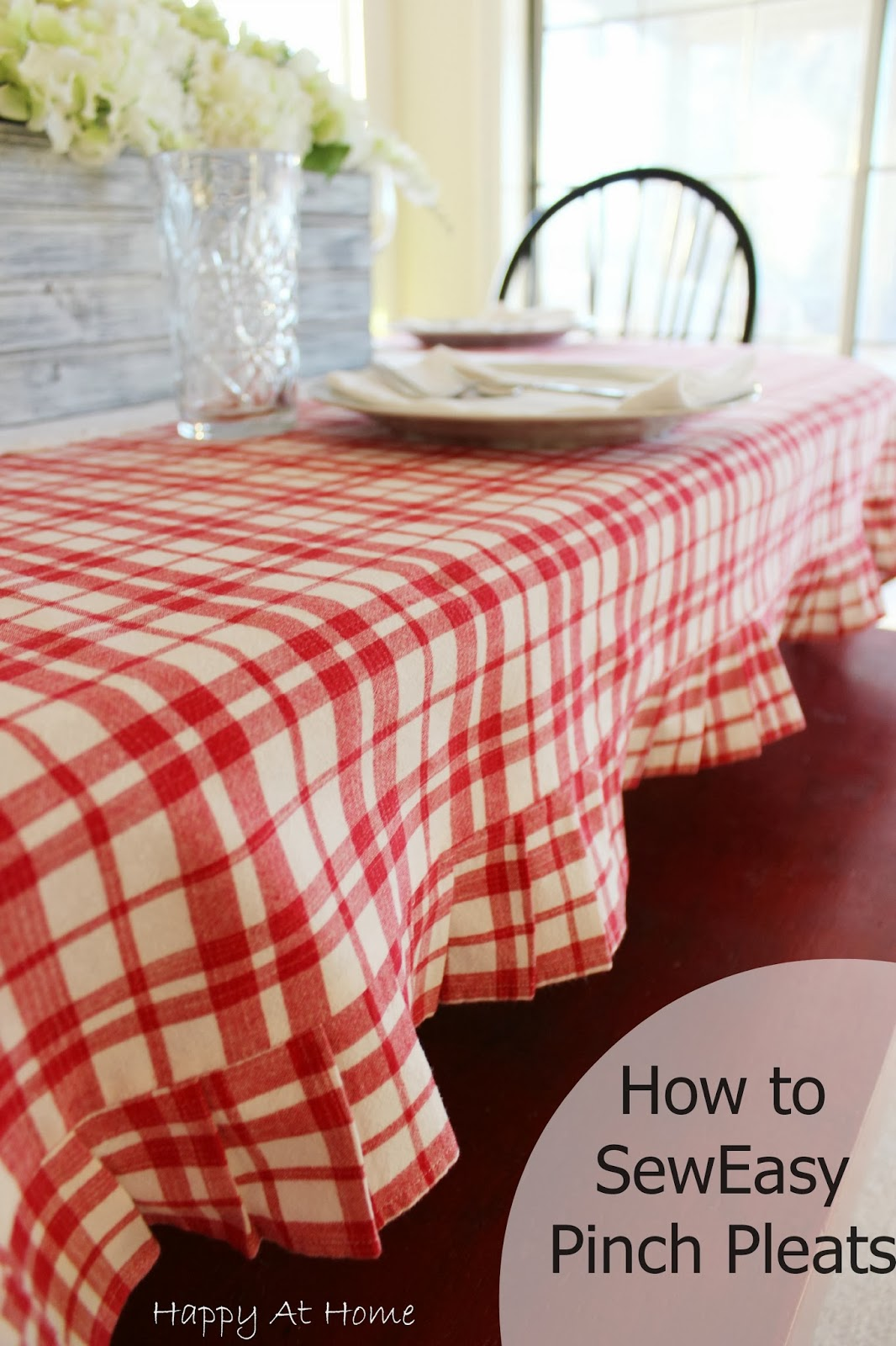 how to make pinch pleats with buckram