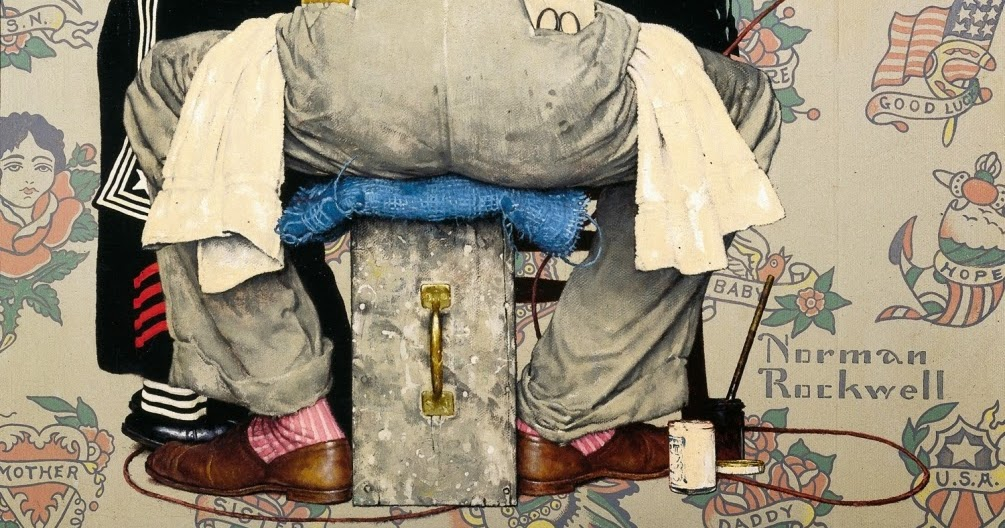 Artists know where to draw the line artist seventeen for Norman rockwell tattoo