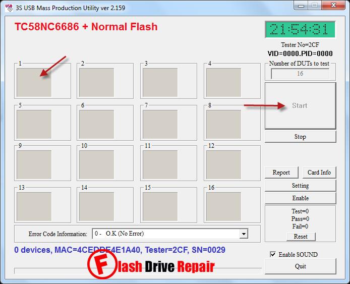 SSS6686 Toshiba TC58NC6688 mptool v.2.159