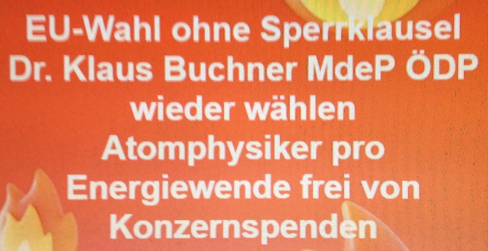 Prof. Dr. Klaus Buchner (ÖDP) gehört zu den aktivsten MdeP aus Deutschland.