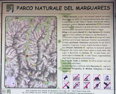 Parco Naturale del Marguareis map.