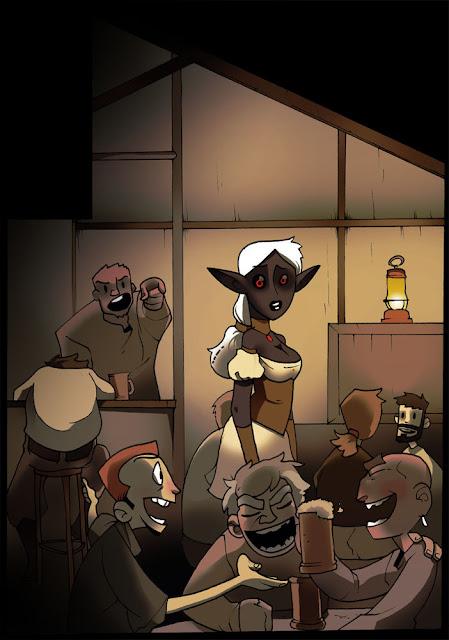 Night Elf- final panel por blackshirtboy