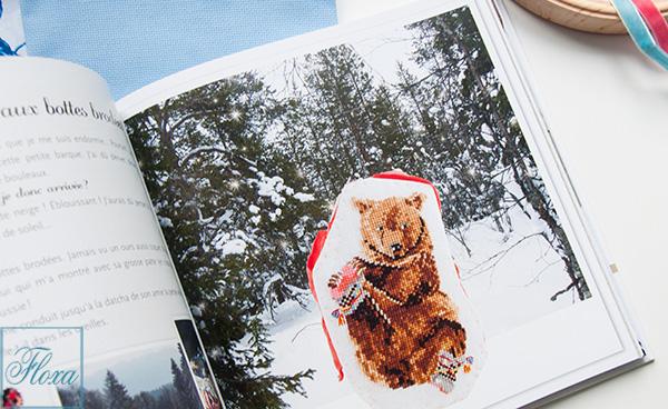 вышивка медведь
