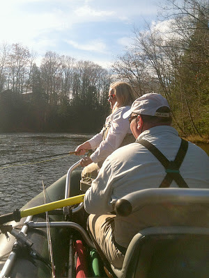 Shannon Brightman and Paul Conklin floating the Salmon river