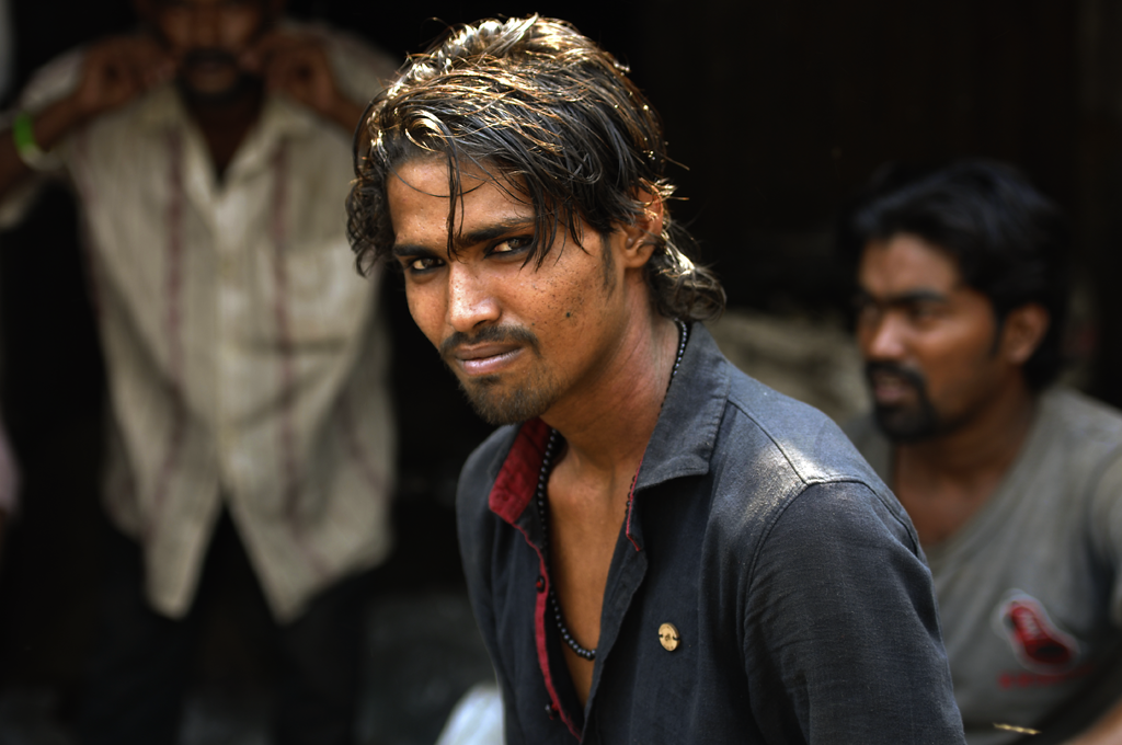 Young man in Dharavi.