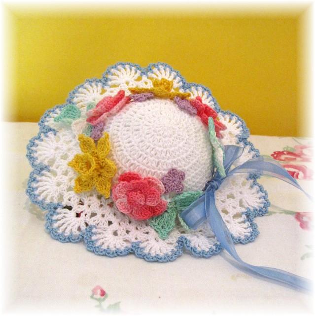 Free Crochet Patterns For Easter Bonnets : 1