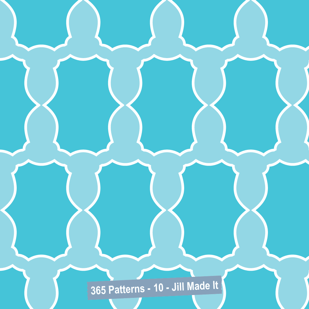 365 Patterns:  Blue Design