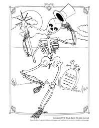Skeleton Coloring Pages 9