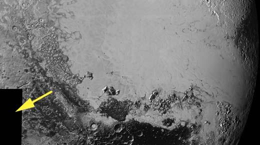 ¿Debido a que la NASA ha oscurecido 14.000 kilómetros de la superficie de Plutón?