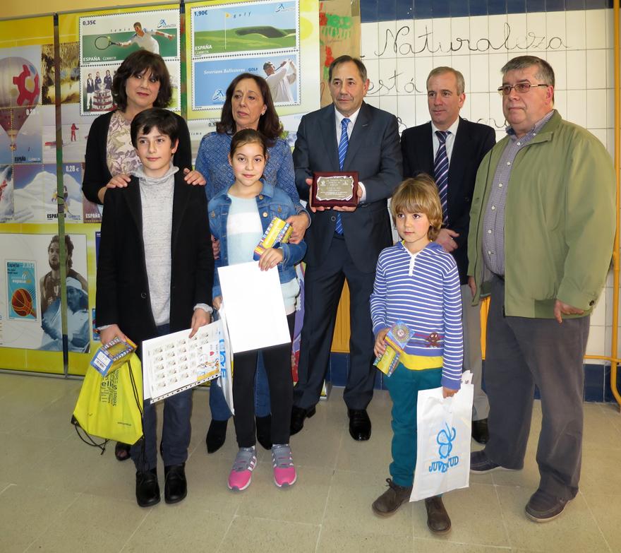 Ganadores del diseño de sello personalizados para la Exposición Didáctica Itinerante Colegio La Ería, Oviedo