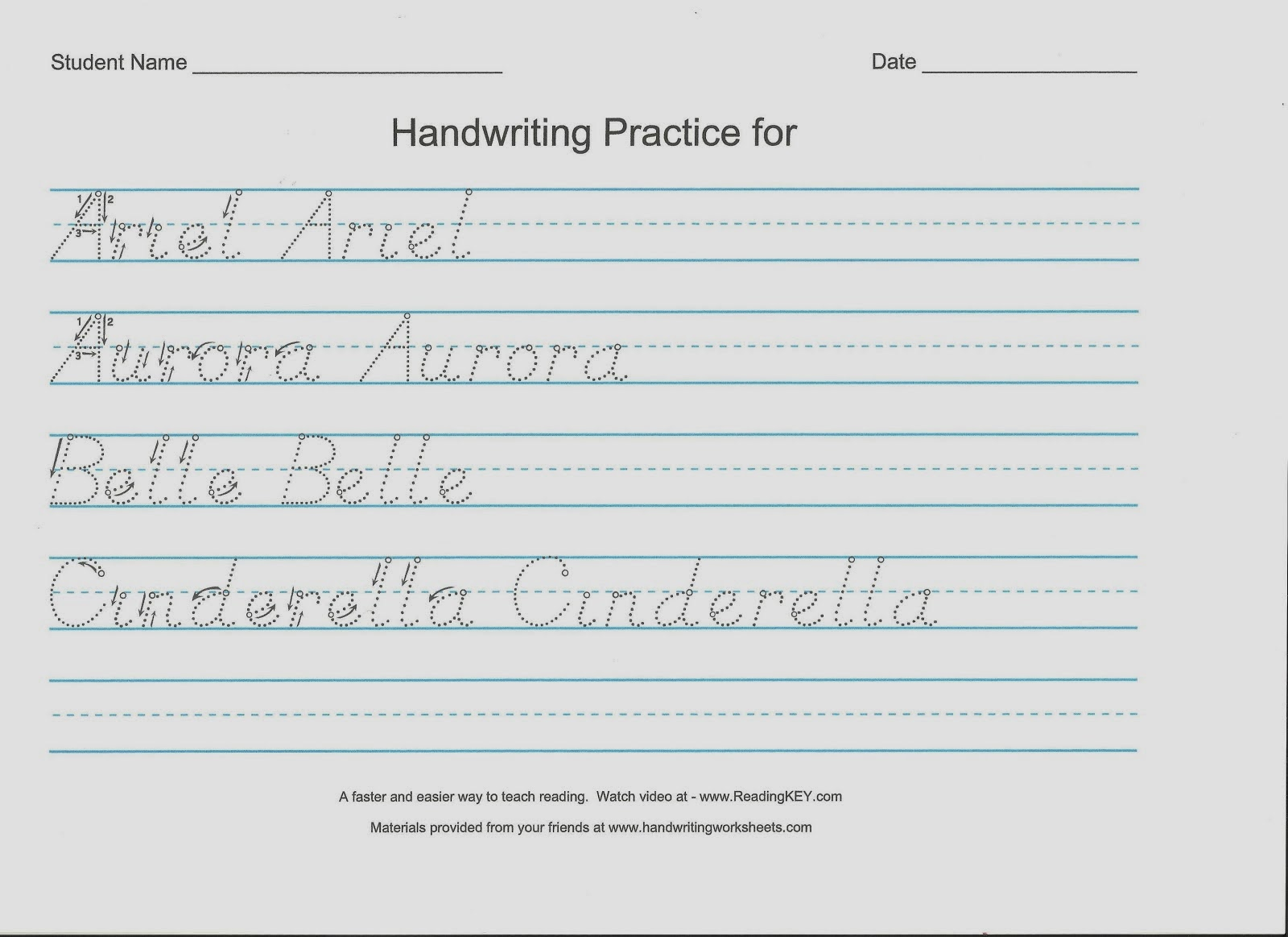 Dnealian Handwriting