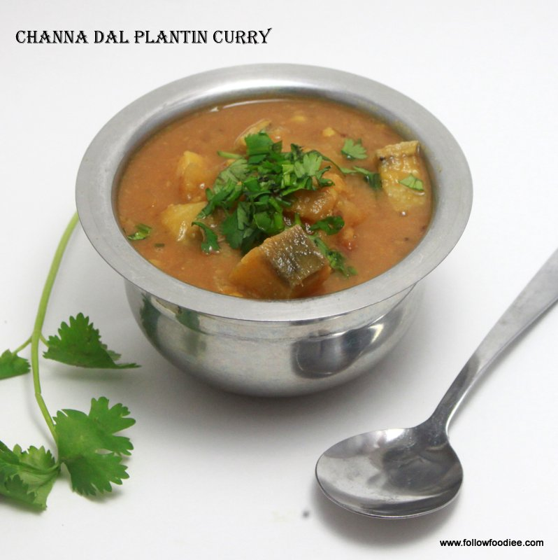 Channa Dal plantain curry Recipe