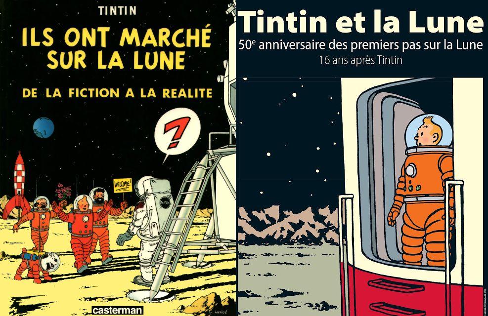 TINTIN ET LA LUNE: Objectif lune - On a marché sur la lune. Hergé