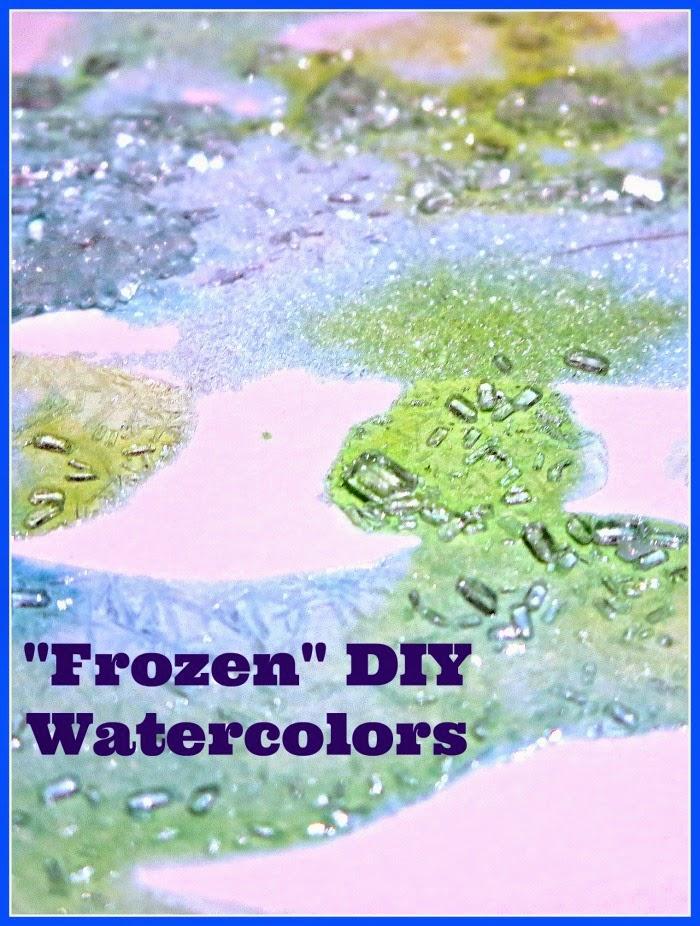 5 Minutes to Set Up - Frozen DIY Watercolors