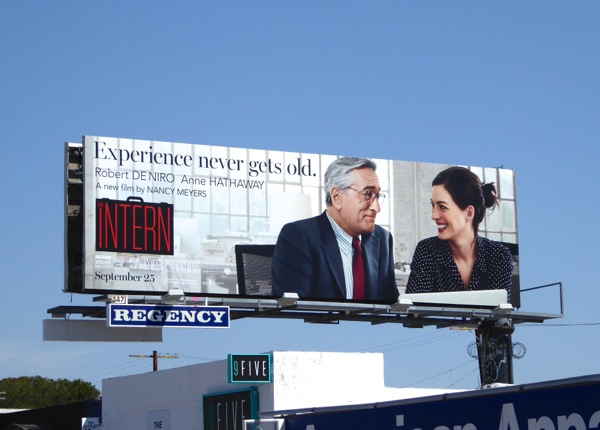 The Intern movie billboard