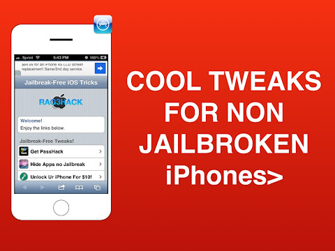 Cool Tweaks For Non Jailbroken iPhones