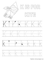 Alphabet Tracer Pages K Kite