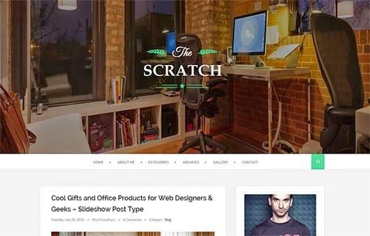 Scratch Responsive Blogger Template