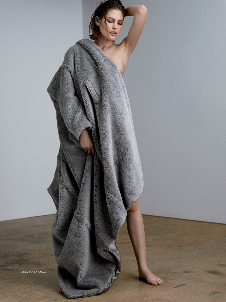 Catherine McNeil for Russh magazine photographed by Santiago & Mauricio, styled by Gillian Wilkins, Max Mara coat