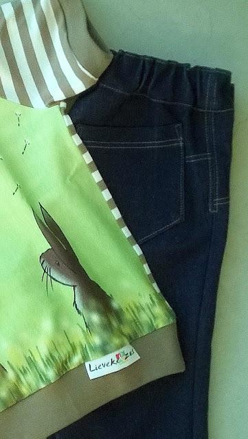 Dandelion bear Finch Fabric detail label lieveke en zus