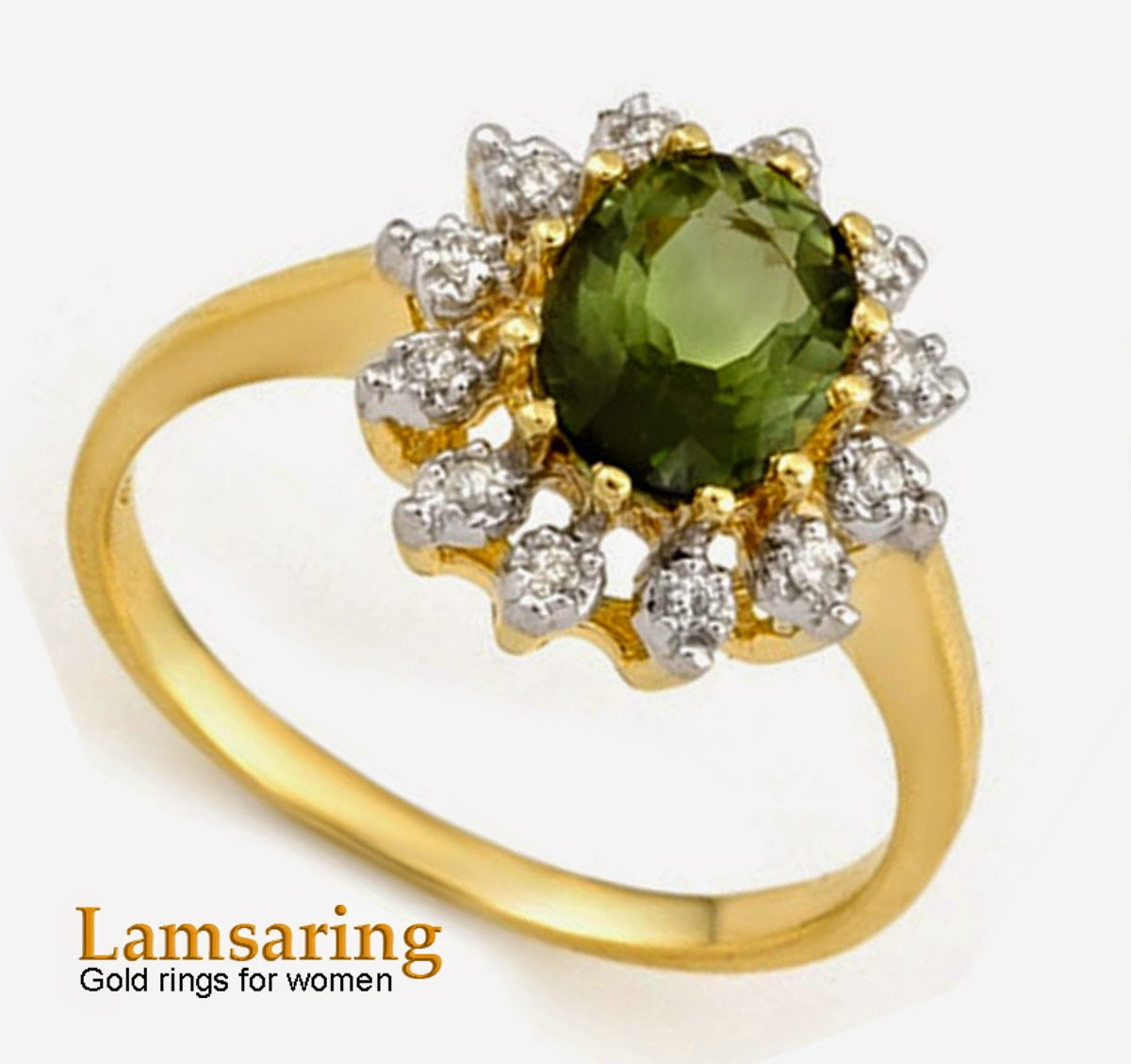 Green gold rings for women - emerald - Lamsaring | Gold rings for ...