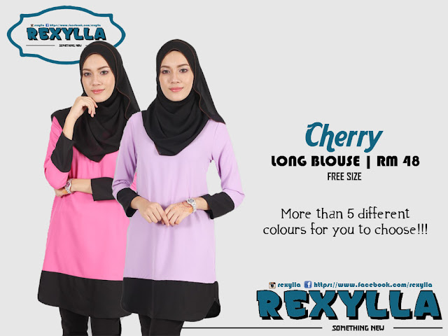 rexylla, blouse, long blouse, cherry collection