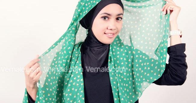 Tutorial Hijab : KREASI JILBAB PASHMINA CHIFFON MOTIF TERBARU
