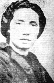 retrato de la poetisa gallega Rosalía de castro en blanco y negro