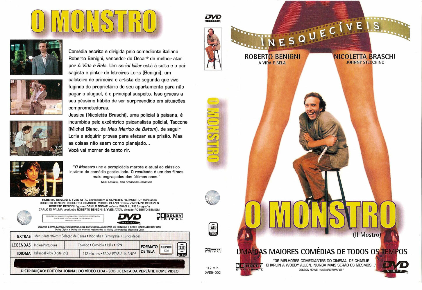 O Monstro DVD Capa