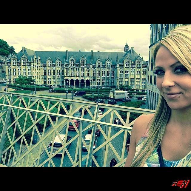 Cute photo of Emma in Belgium.