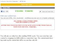 HTML tab in Facebook
