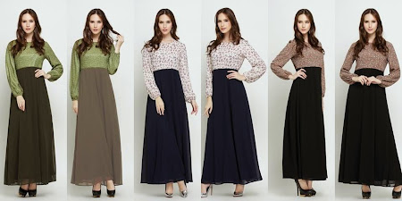Dress Menawan Chiffon Full Lining Dengan Kombinasi Warna Warna MAnis