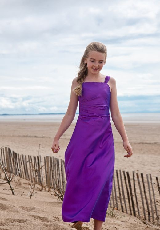 purple junior bridesmaid dresses free shipping