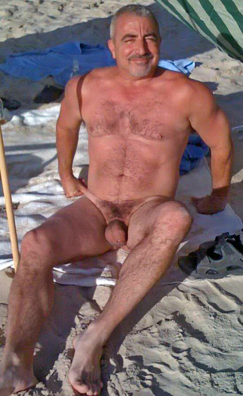 Are beach old man naked
