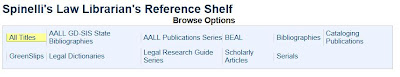 Spinelli's Law Librarian's Reference Shelf on HeinOnline