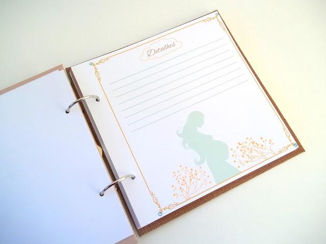 presente grávida, presente criativo grávida, diário de gravidez