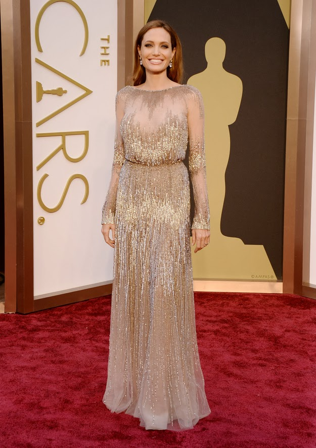Angelina Jolie in Elie Saab at the Oscars