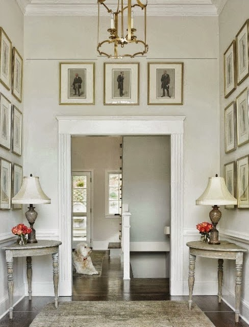 beautiful room - traditional style white and gold foyer entry