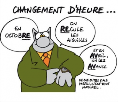 Le Chat Geluck heure d'hiver