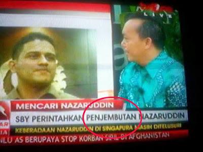 Penjemputan Nazaruddin