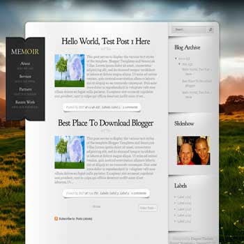 Memoir Blogger Template. blogger template from wordpress theme. elegant blogger template from wordpress theme