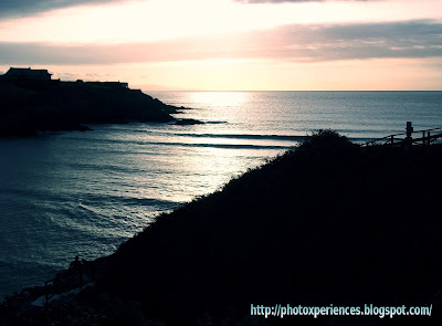 Sun setting in the Cantabrian Sea - Sol poniéndose en el mar Cantábrico
