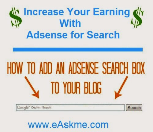How to Increase Your Earning With Adsense for Search : eAskme