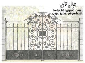 أبواب حدائق حديد ديكورات جولد هاوس أشكال أبواب حديد صور بوبات حدائق Iron gates